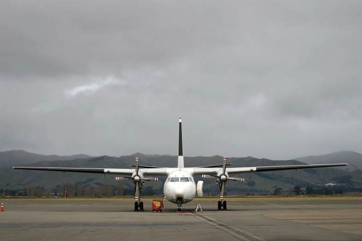 The Crown's Investment in Air New Zealand, photo of plane at Blenheim airport