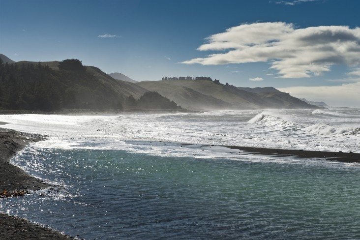Implications of Kaikōura earthquakes for the New Zealand economy, photo of Kaikōura coast